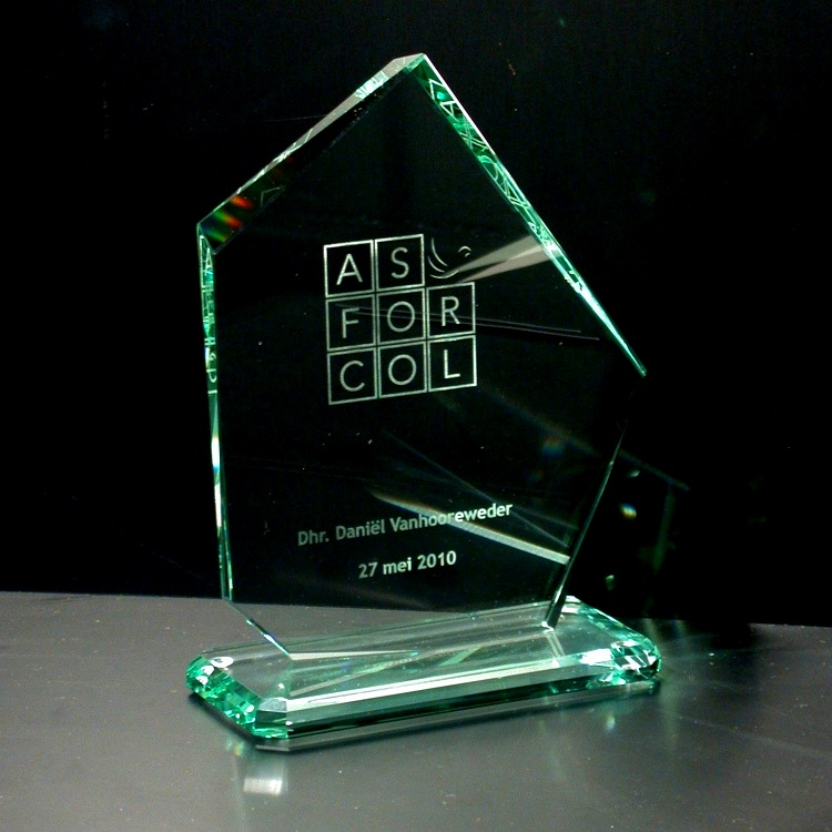 Award in glass