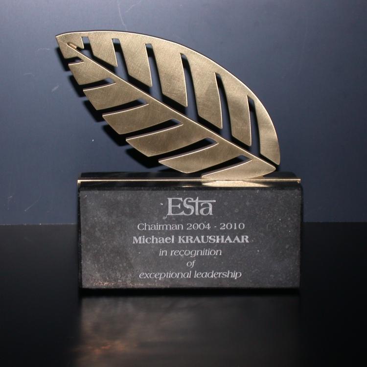 Award brons met voet