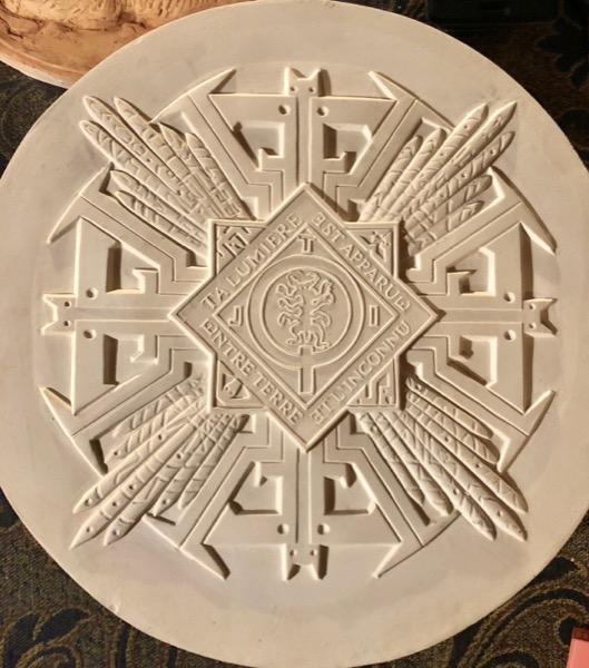 Concept/design de Médaille en plâtre
