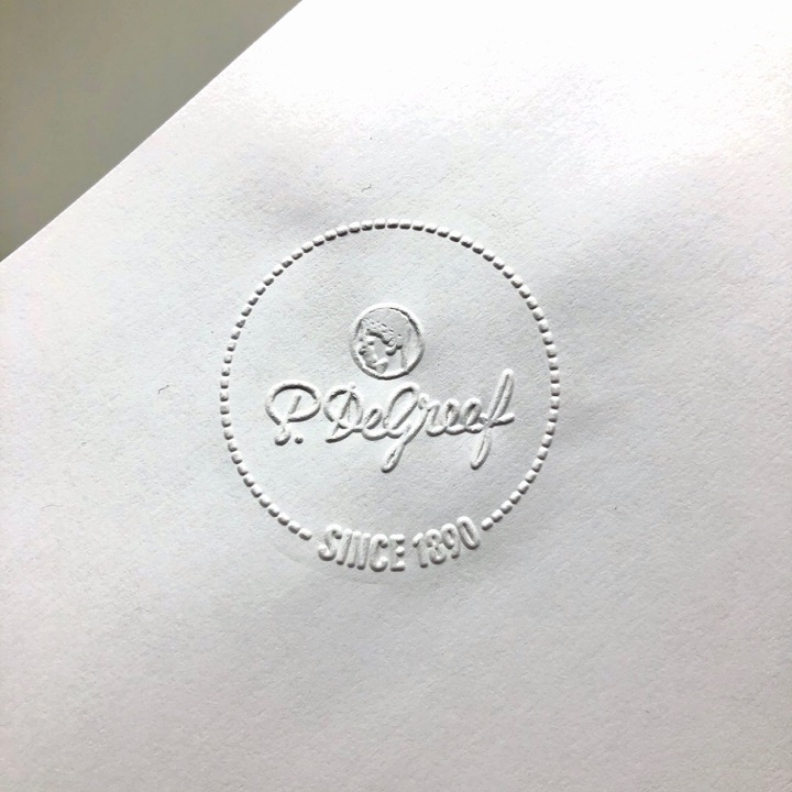 Print embossing stamp