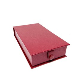 Luxury box for medals in simili - maroon