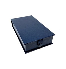 Luxury box for medals in simili - blue