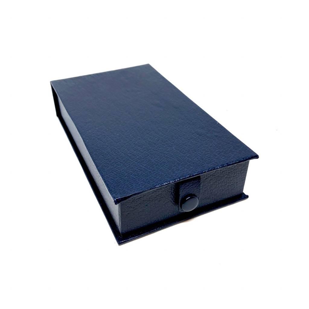 Écrin pour ordonnance en simili - bleu
