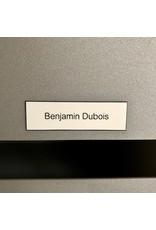 Naamplaatje in witte kunststof voor brievenbus, bel of lift