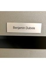 Naamplaatje in zilverkleurig aluminium voor brievenbus, bel of lift