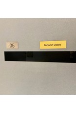 Nameplate in gold aluminium for letter box, bell or lift
