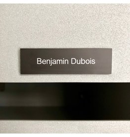 Nameplate in black aluminium