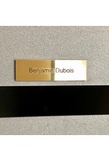 Nameplate in brass for letter box, bell or lift