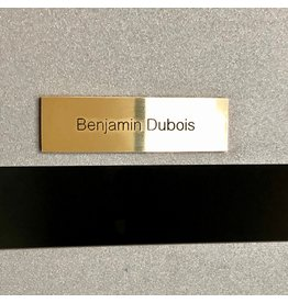 Nameplate in brass