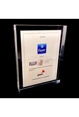 Award en plexi - tombstone (150 x 150 x 24 mm)