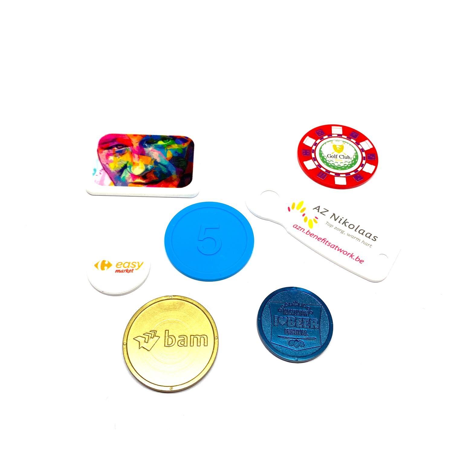 Plastic tokens