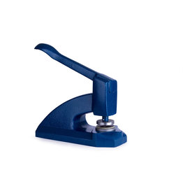 Cast iron embossing press - blue
