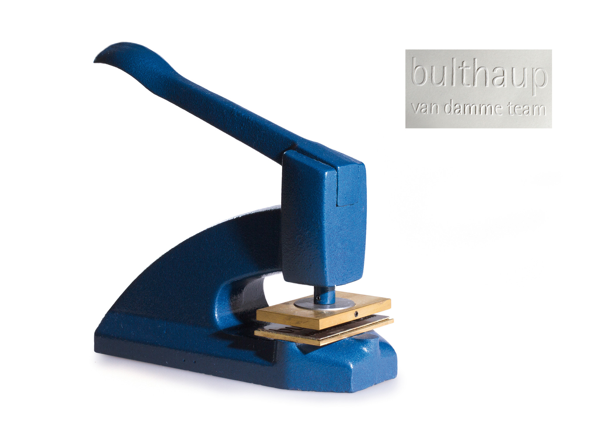 Classic cast iron blind stamp - blue