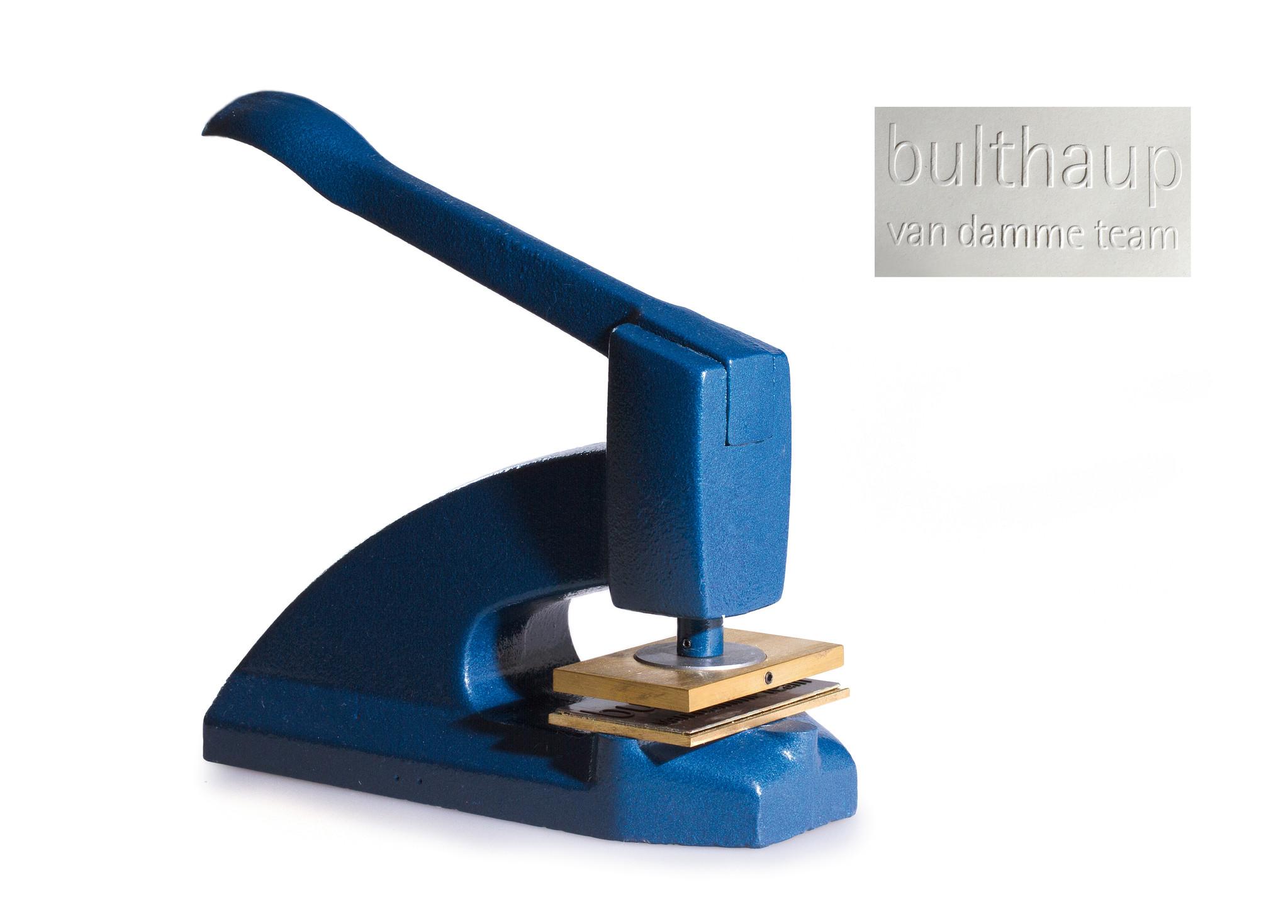 Tampon embossage classique en fonte - bleu