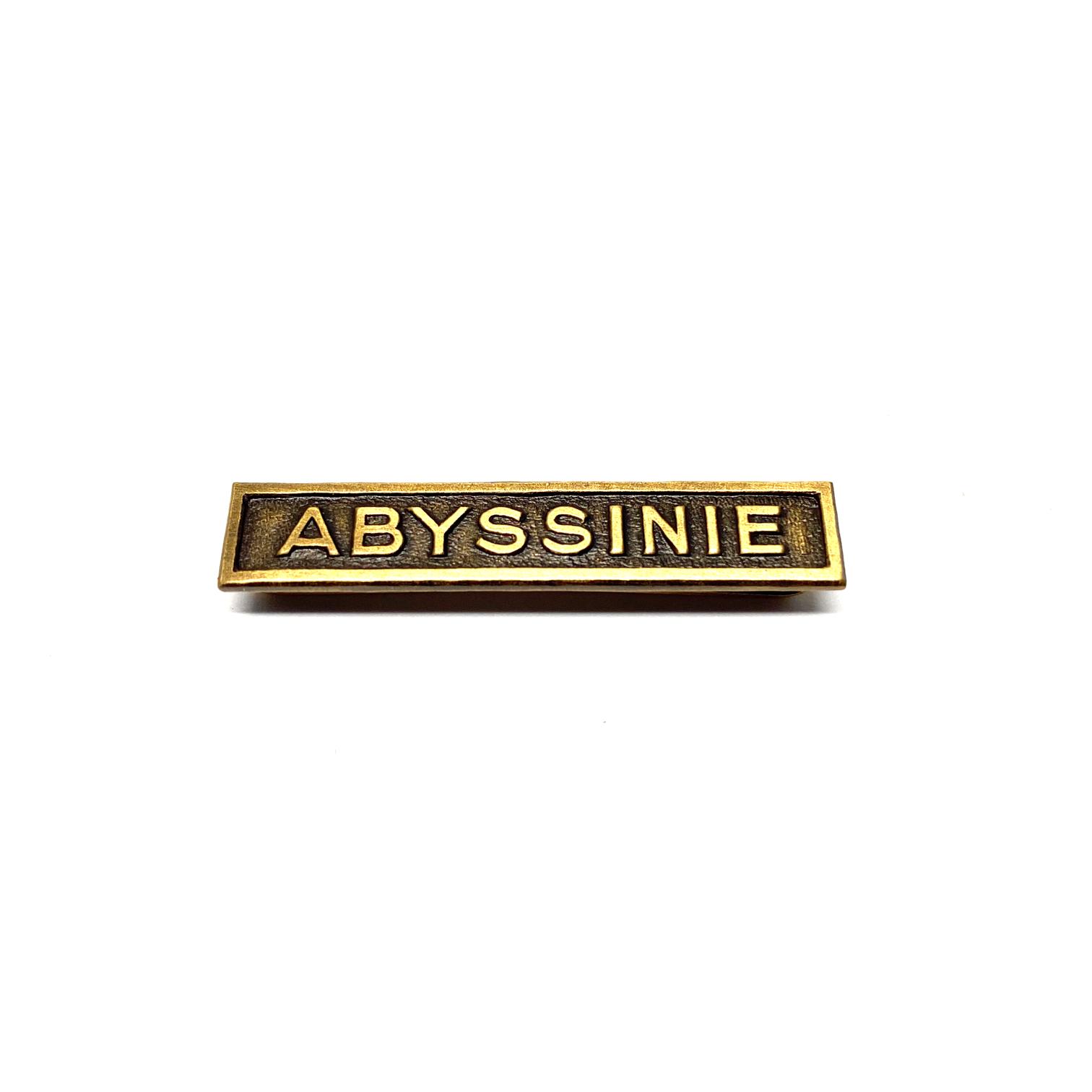 Barrette Abyssinie pour décorations de guerre