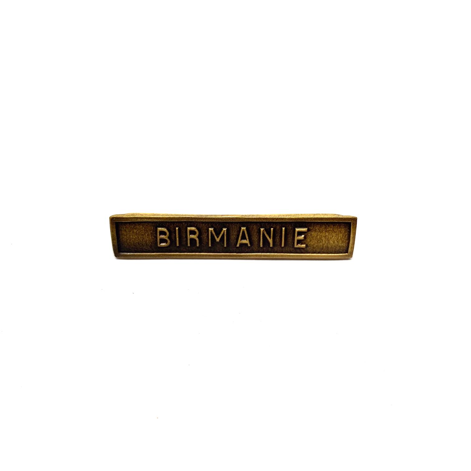 Barrette Birmanie pour décorations de guerre