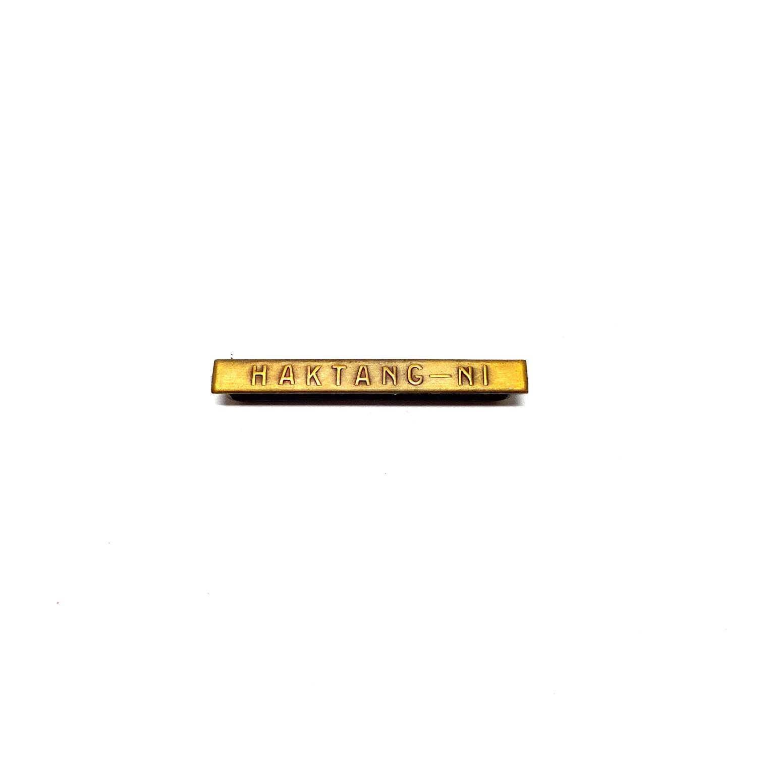 Bar Haktang-Ni for war medals