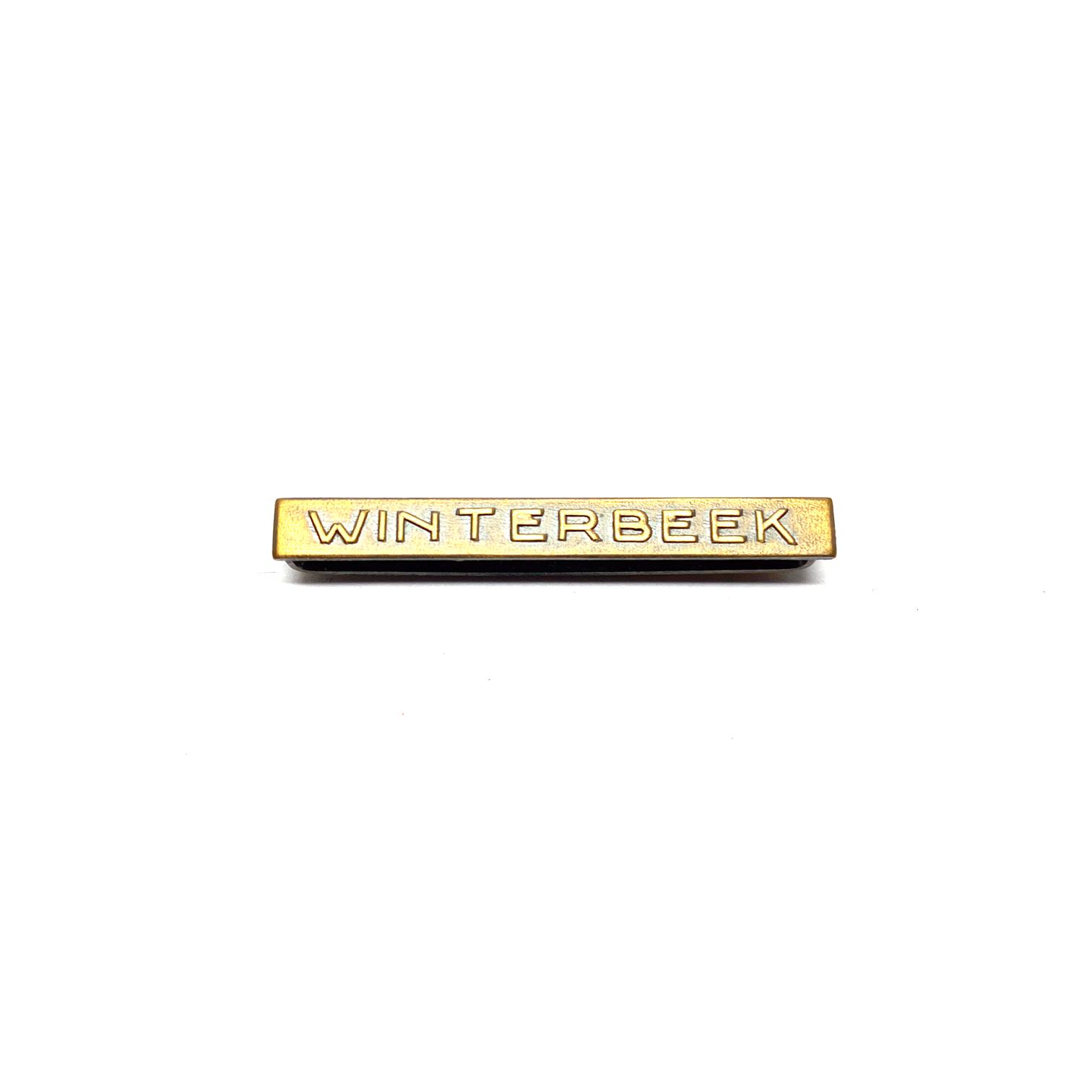 Bar Winterbeek for war medals