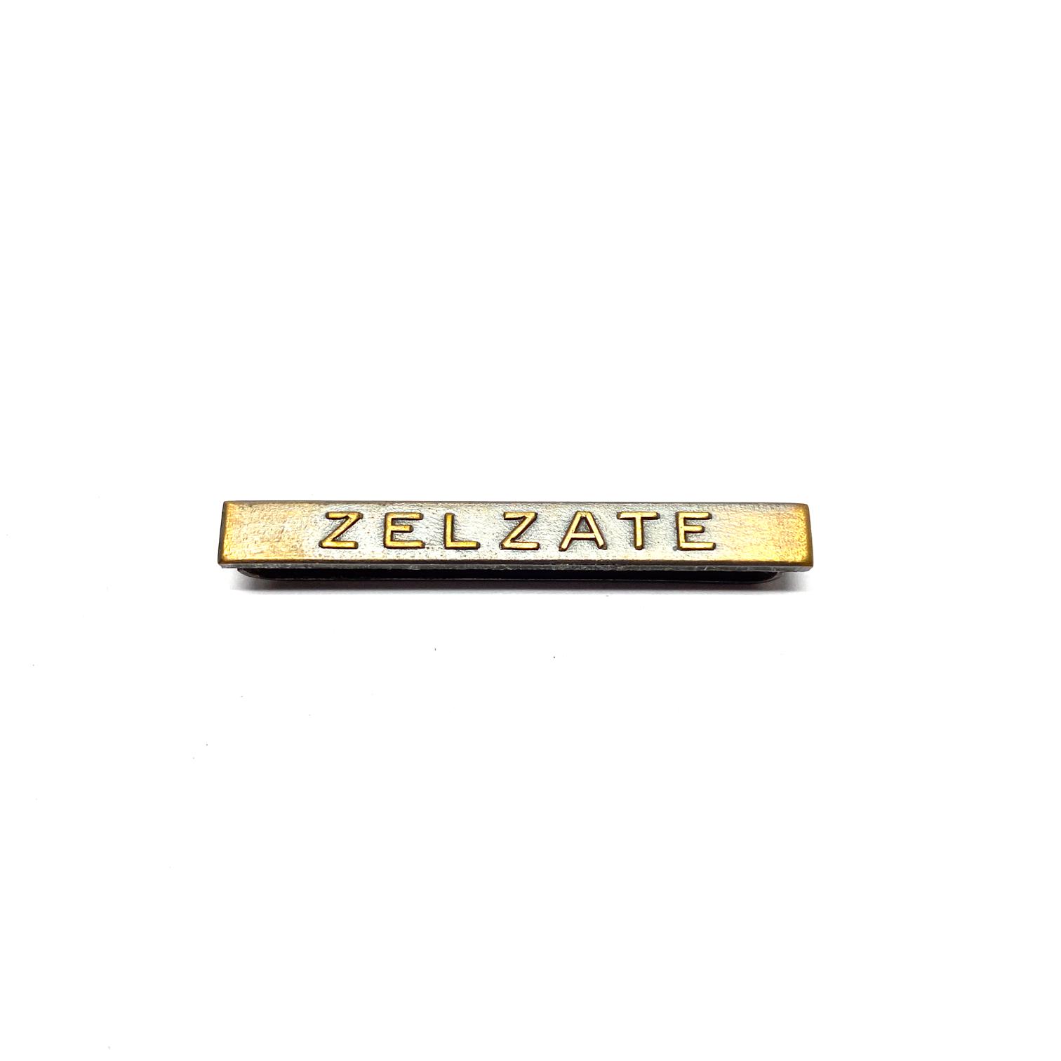 Bar Zelzate for war medals