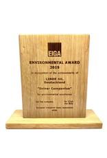 Gepersonaliseerde houten award met lasergravure (150 x 120 x 20 mm)