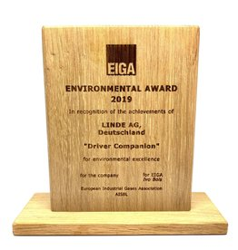 Award in wood (150 x 120 x 20 mm)