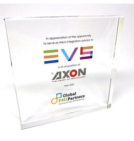 Award en plexi - tombstone (130 x 130 x 20 mm)
