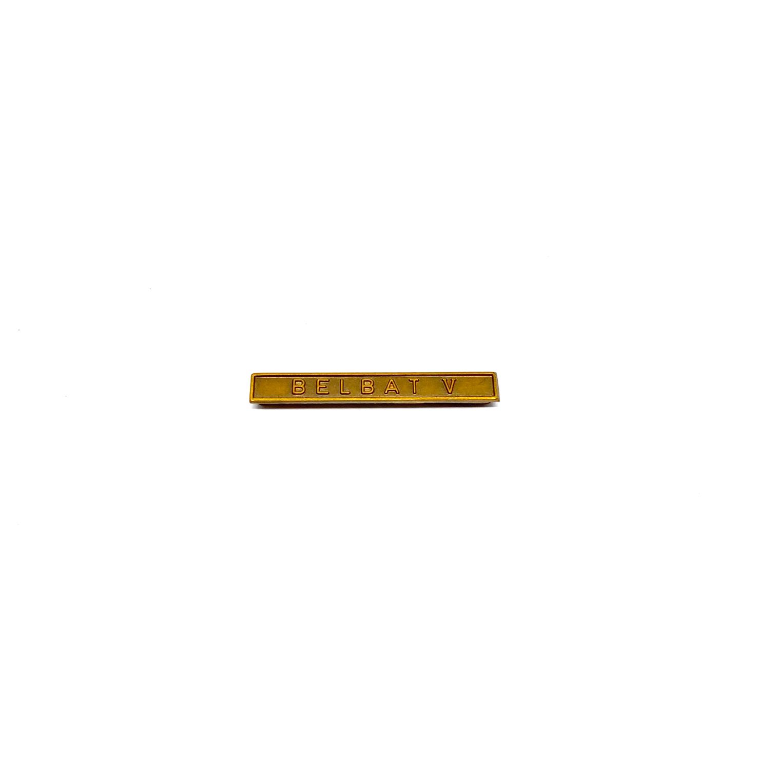 Barrette Belbat V pour décorations militaires