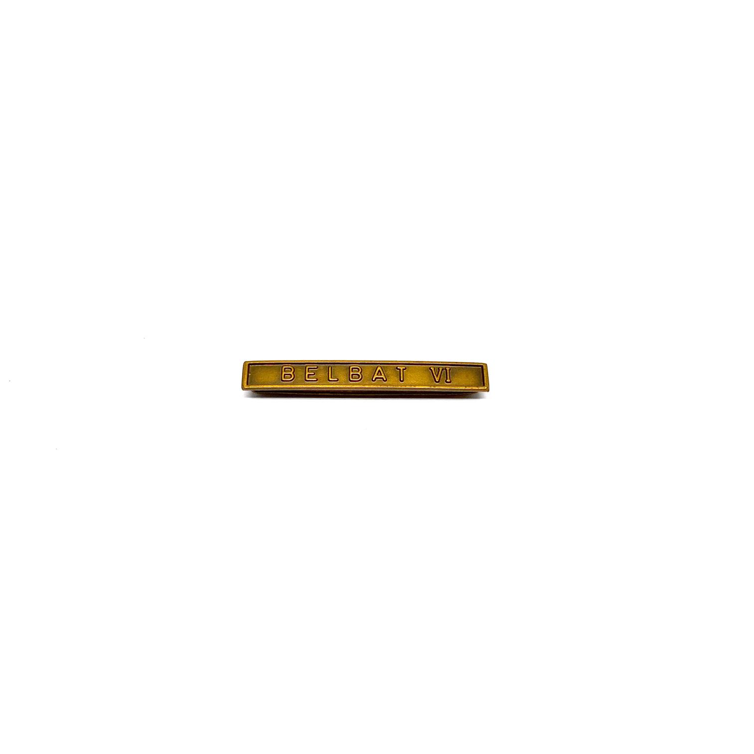 Barrette Belbat VI pour décorations militaires