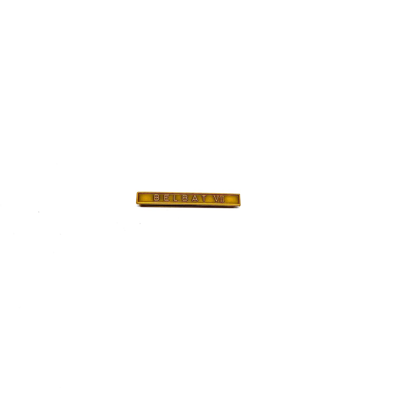 Barrette Belbat VII pour décorations militaires