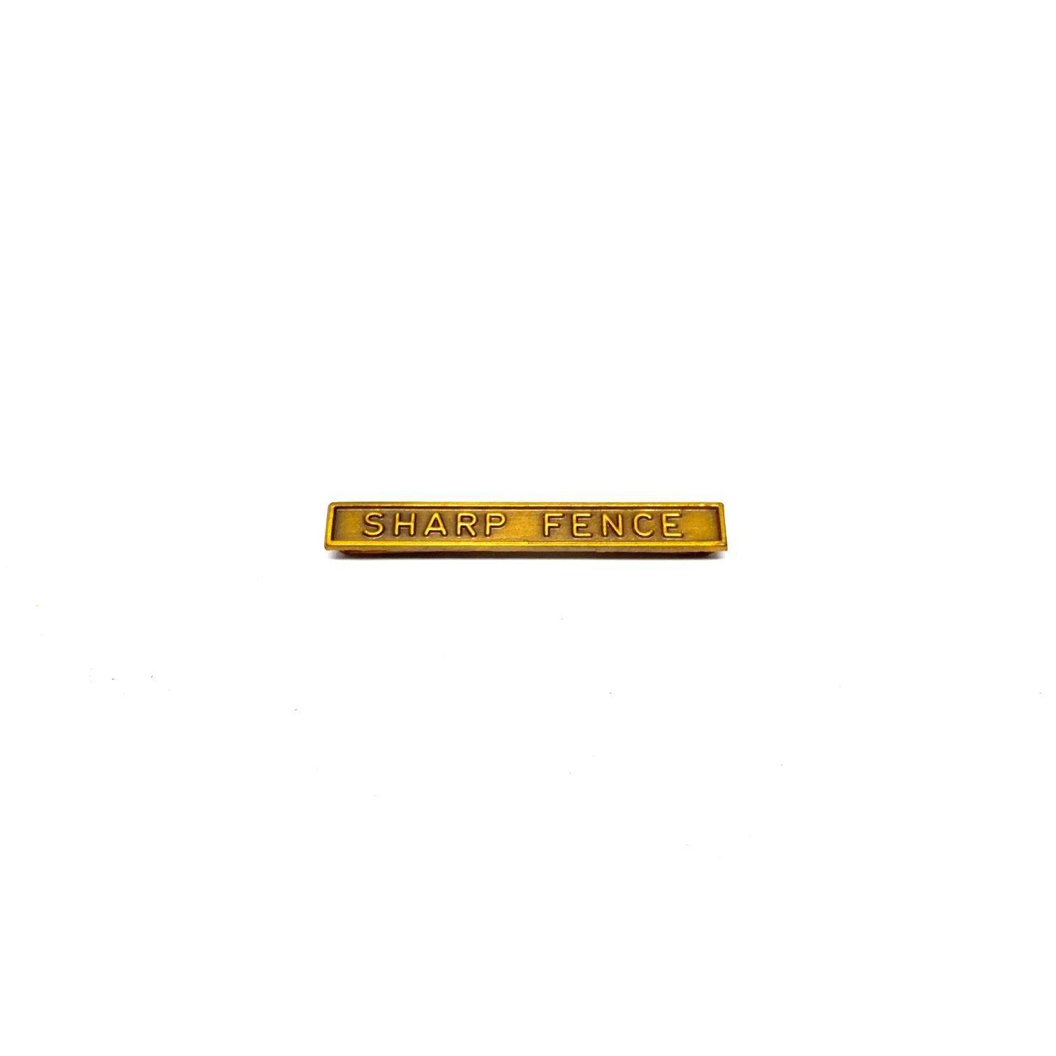 Barrette Sharp Fence pour décorations militaires