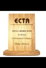 Gepersonaliseerde houten award met lasergravure (250 x 180 x 20 mm)