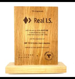 Award en bois (200 x 150 x 20 mm)