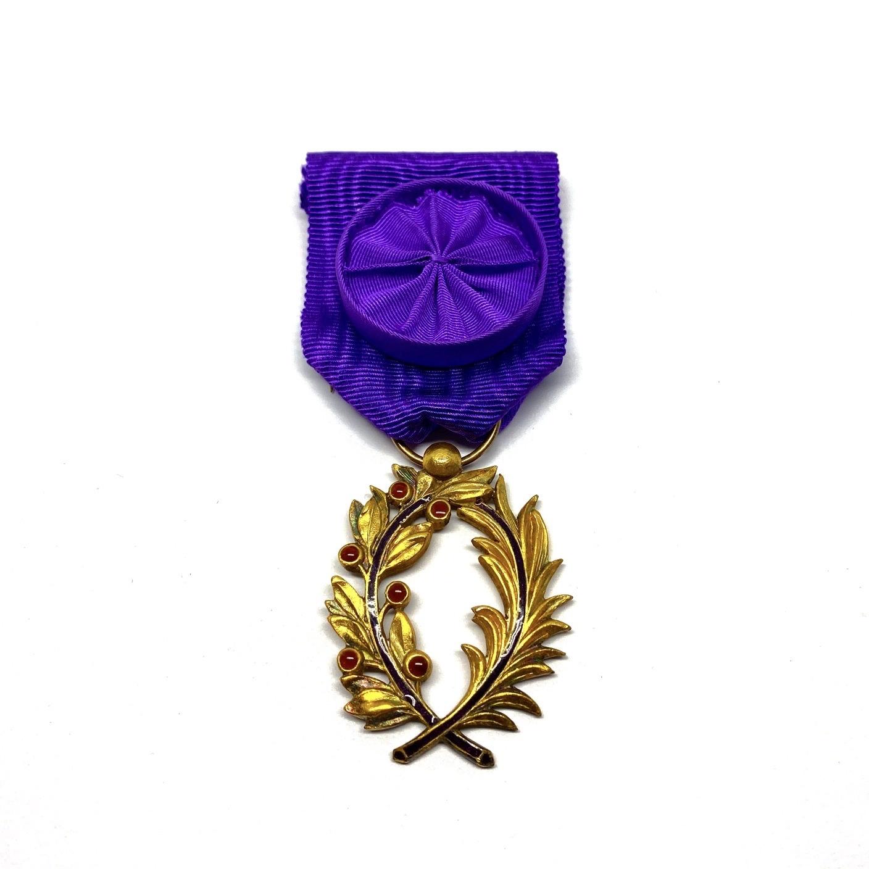 Ereteken Officier in de Orde van de Academische Palmen (Ordre des Palmes Académiques)