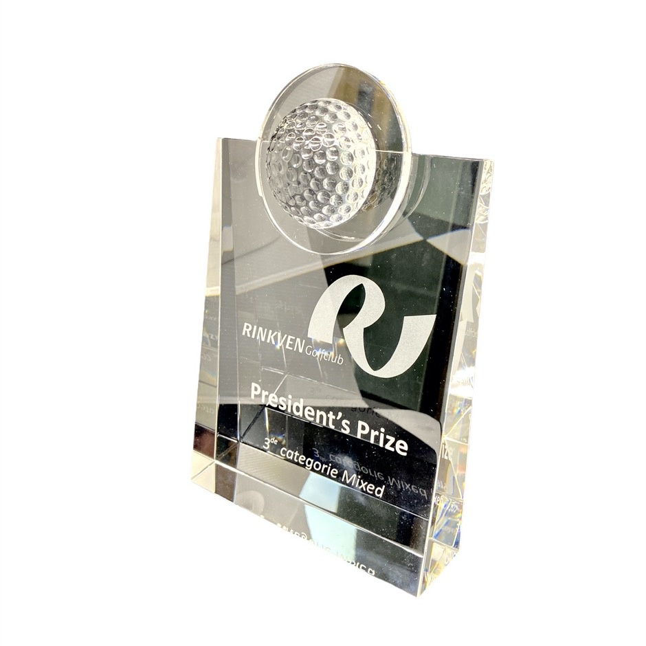 Award in crystal - Rinkven