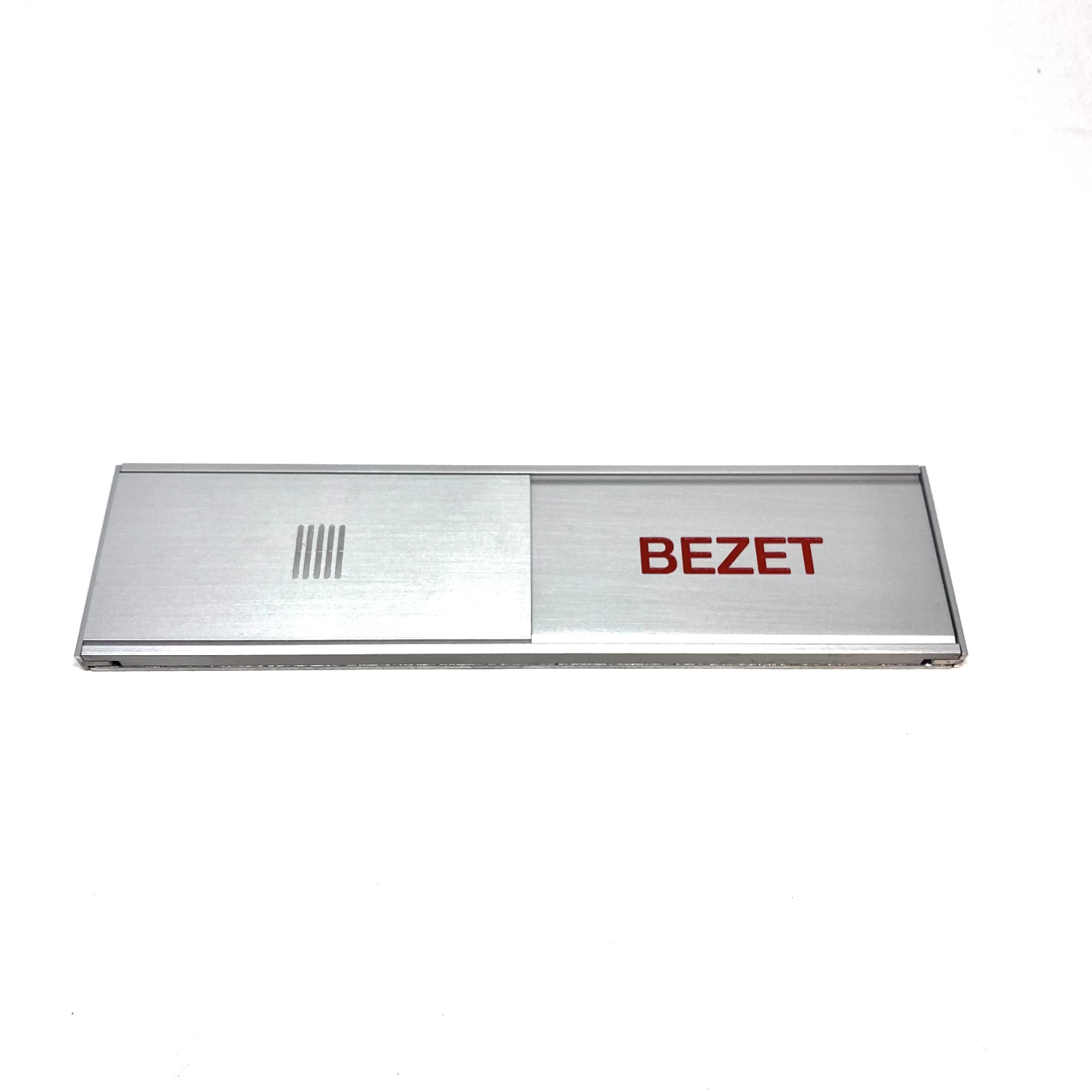 Slider sign in aluminium VRIJ / BEZET