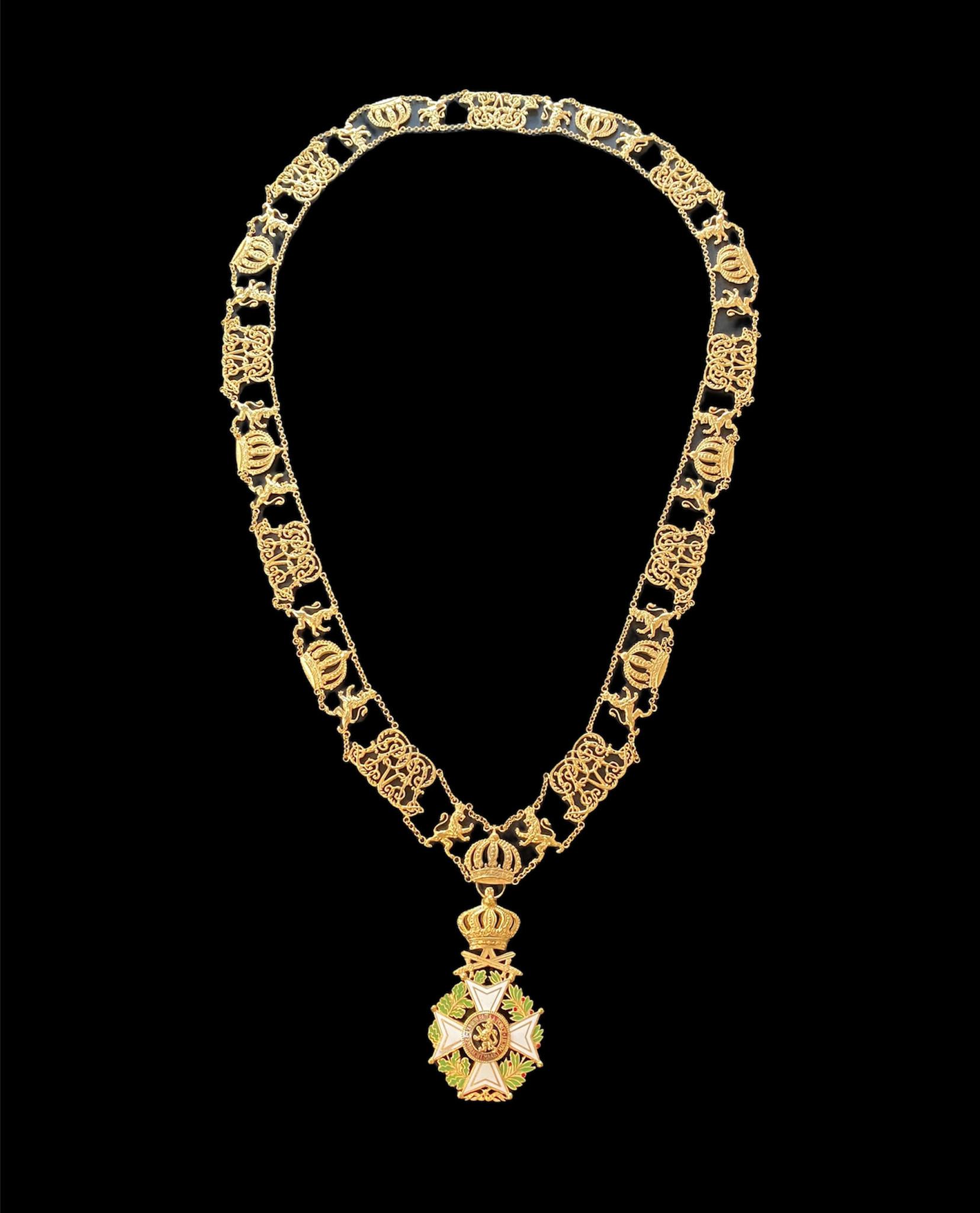 Collar Order of Leopold Civil in silver .925