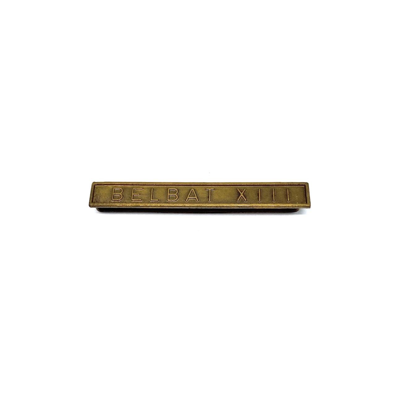 Barrette Belbat XIII pour décorations militaires