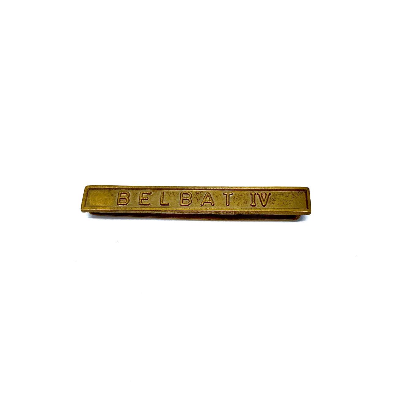 Barrette Belbat IV pour décorations militaires