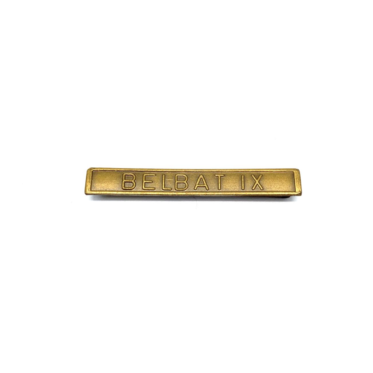 Barrette Belbat IX pour décorations militaires