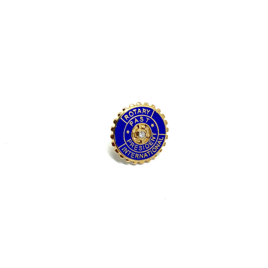 Pin Rotary Past President silver + brilliant 0.02 ct