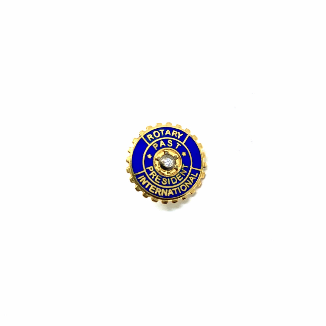 Pin Rotary Past President silver + brilliant 0.04 ct