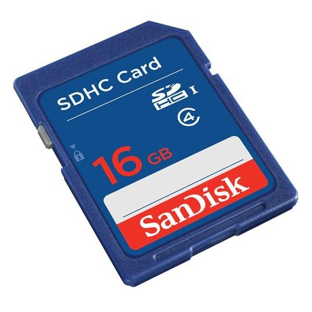 Sandisk SD kaart 16GB SDHC class 4