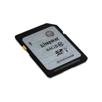 Kingston 64GB SDXC geheugenkaart class 10