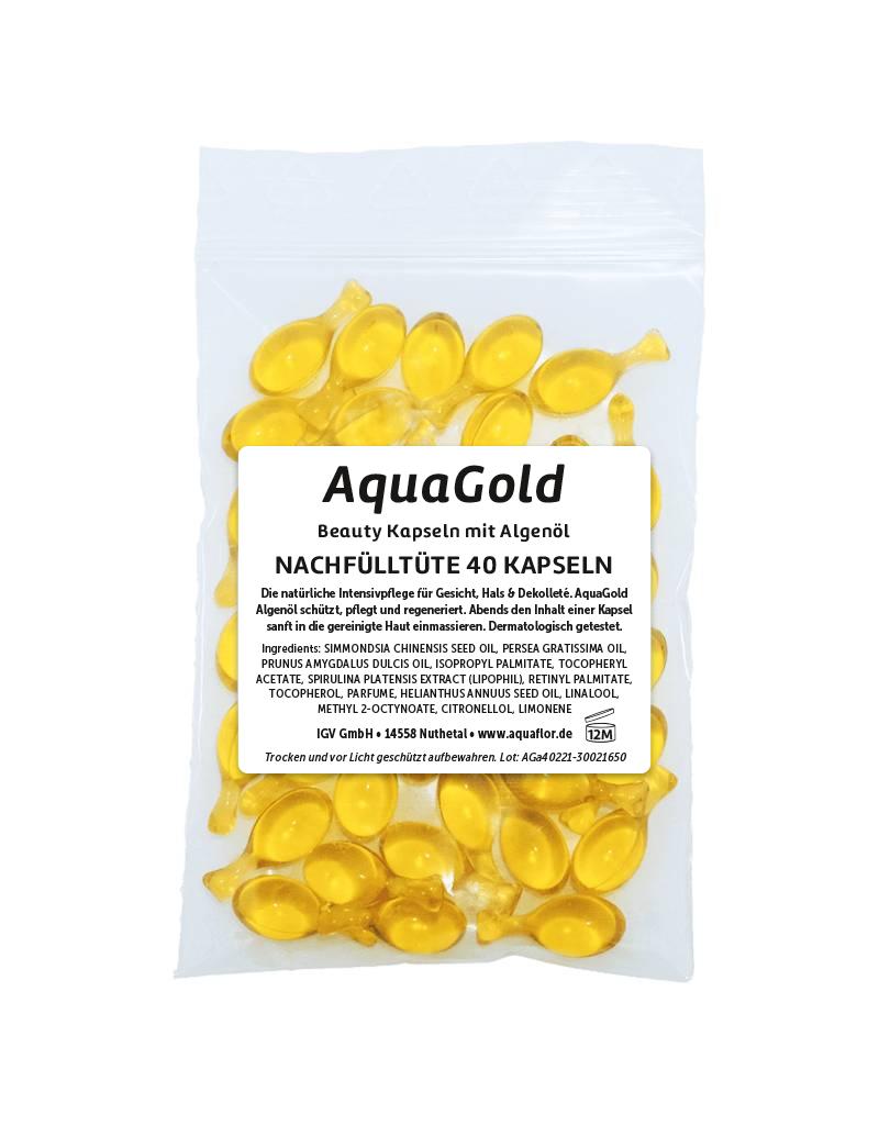 AQUAFLOR AquaGold Beauty Kapseln Nachfülltüte 40 Kapseln (22,8 g)