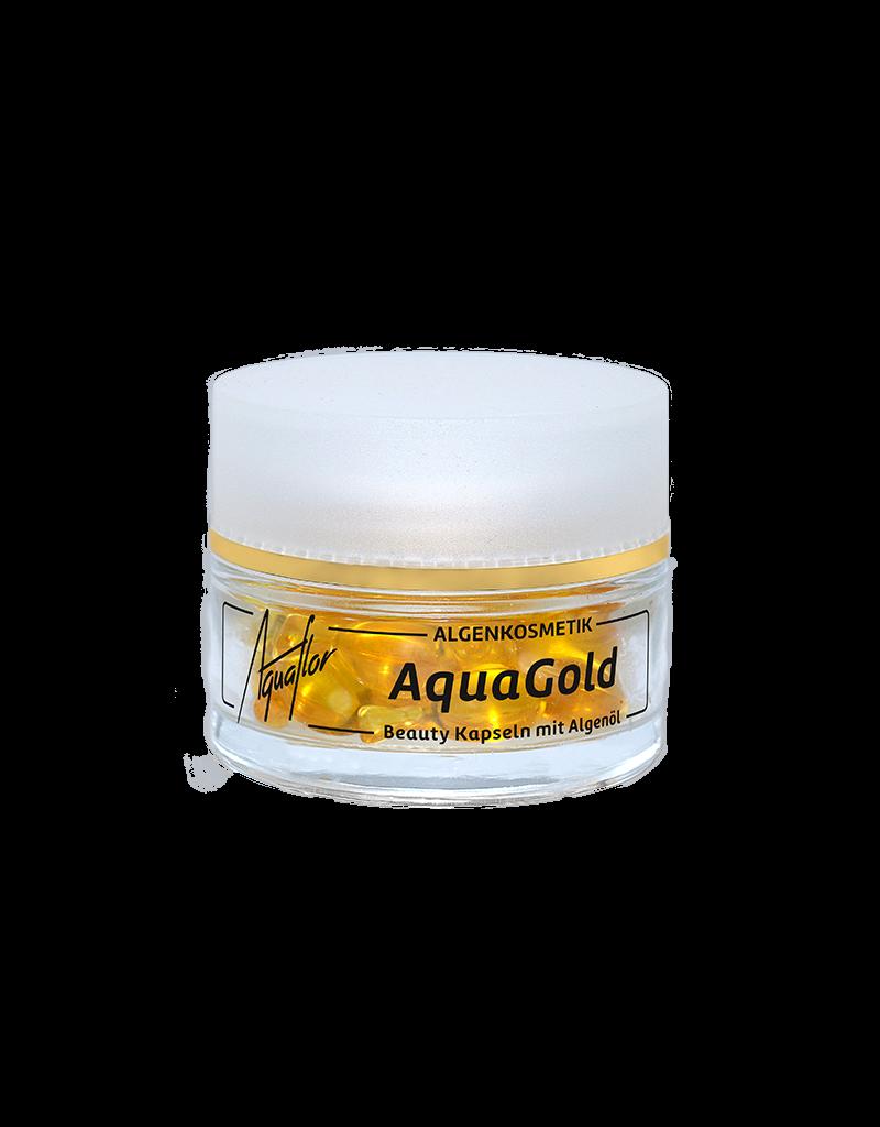 AQUAFLOR AquaGold Beauty Kapseln 25 Stück im Glastiegel (14,25 g)