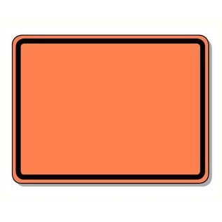 ADR bord oranje 400 x 300 mm vast