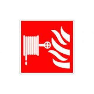 Brandslang met vlammen pictogram sticker (vinyl)