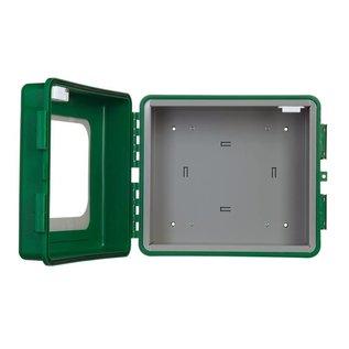 Kunststof AED buitenkast met alarm en verwarming