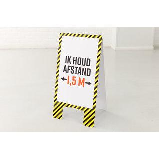 Houd 1.5 meter Afstand Vloerbord