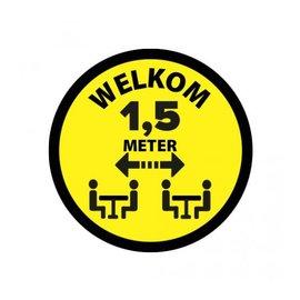 Sticker Welkom 1.5 meter Zitten vinyl Ø200mm